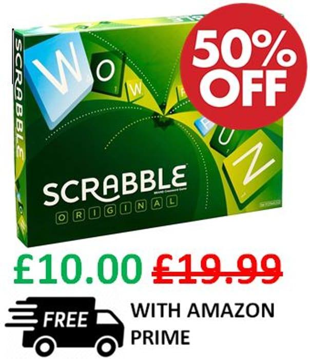 Scrabble - The Original Board Game - HALF PRICE & FREE PRIME DELIVERY