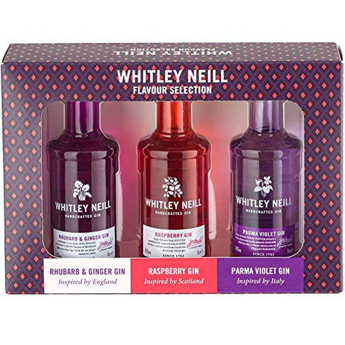 Whitley Neill Flavoured Gin Gift Pack, 3 X 5cl