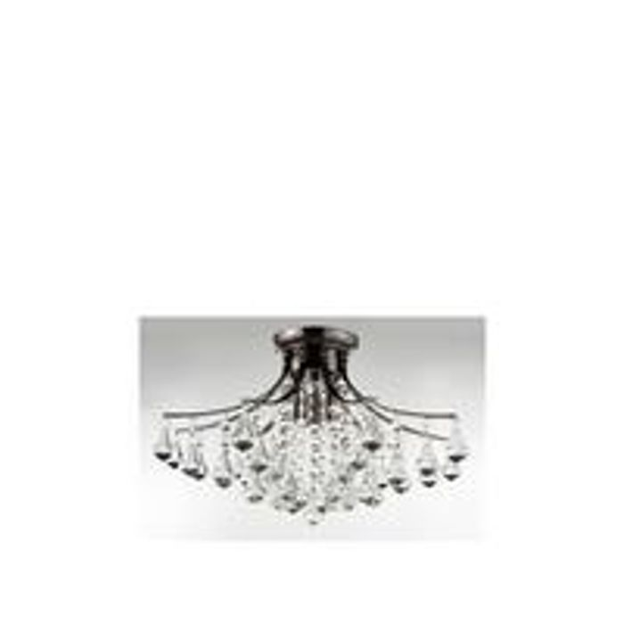 Moritz Flush 3-Light Crystal Drop Light