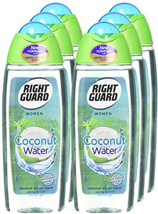 Right Guard Women Coconut Water Shower Gel, 250 Ml - Pack of 6