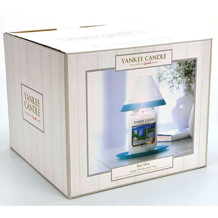 Official Yankee Candle Teal Vine Large Shade & Tray Set Only £7