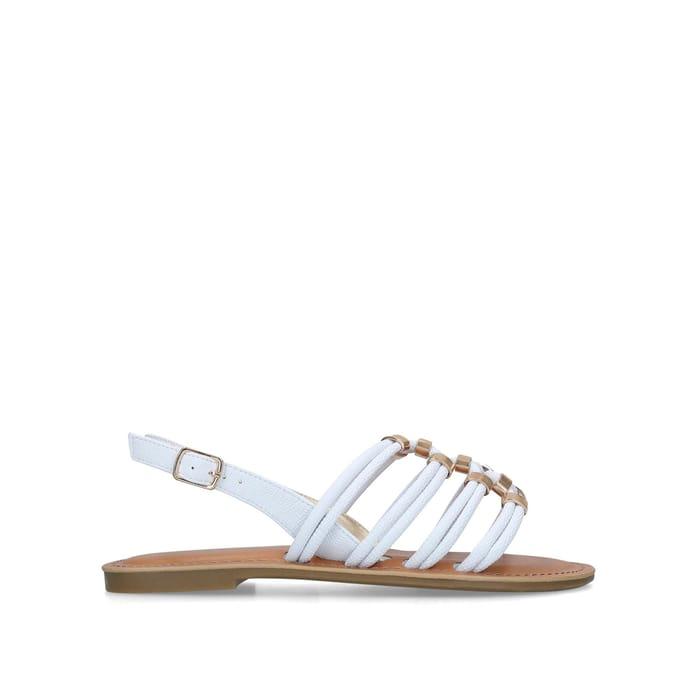 Carvela - White 'Birkby' Flat Sandals + Free Delivery