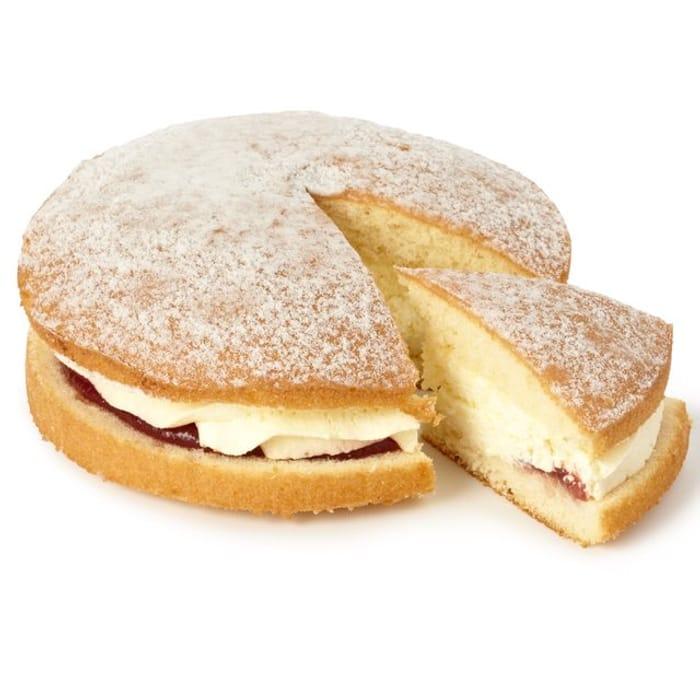 Morrisons Fresh Cream & Jam / Lemon or Chocolate Sponge Cake - HALF PRICE