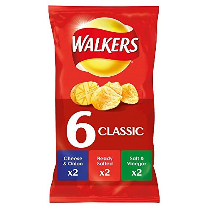 Best Price! Walkers Crisp Classic Variety, 25g (6 Pack)