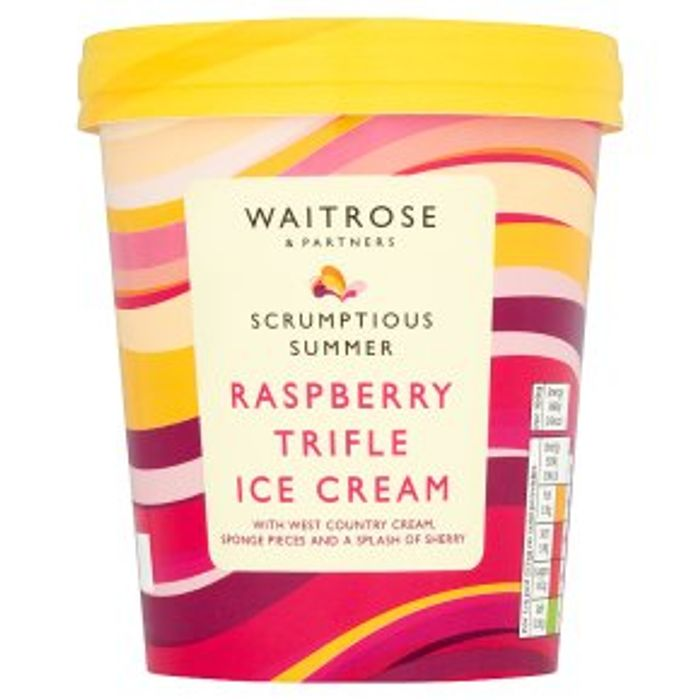 Waitrose Raspberry Trifle Ice Cream 500ml