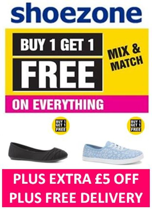 HOT SHOES DEAL! Buy 1 Get 1 FREE + £5 EXTRA OFF + FREE DELIVERY