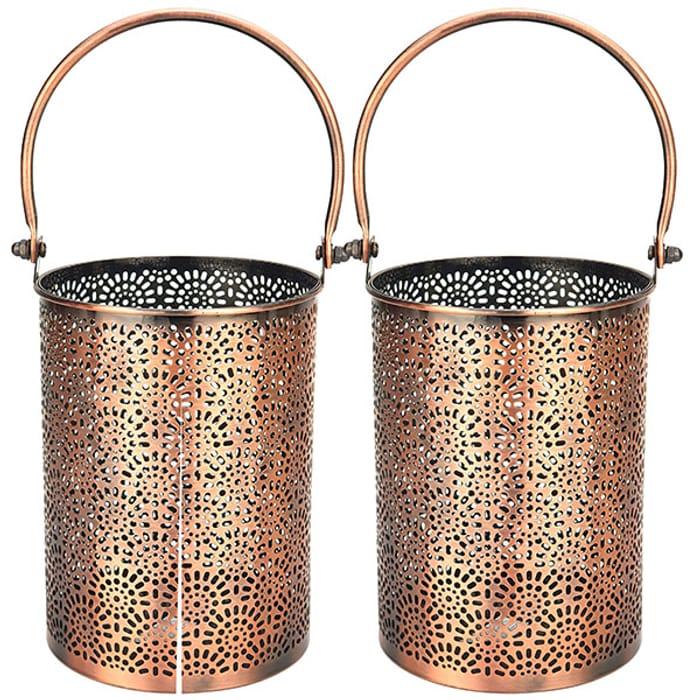 2 X Yankee Candle Rustic Lantern Style Jar Holders