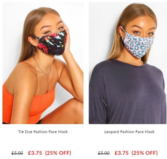 BOOHOO Fashion Face Masks - £3.75