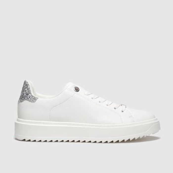Cheap Schuh White & Silver Wonder Trainers Only £16.99!