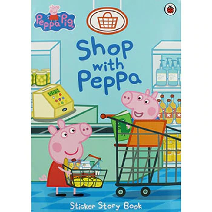 Cheap Peppa Pig - Shop with Peppa Sticker Story Book Only £2!