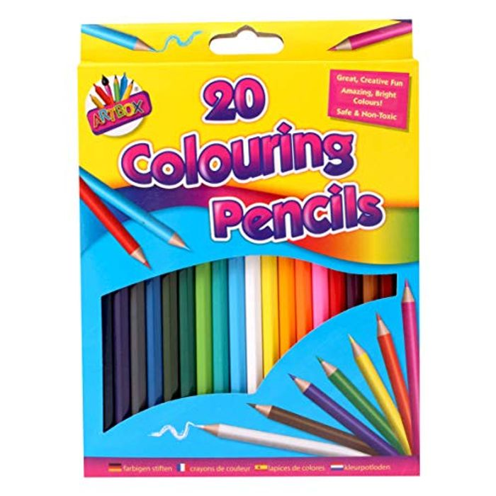 Artbox 20 Full Size Colouring Pencils Set in 20 Assorted Colours