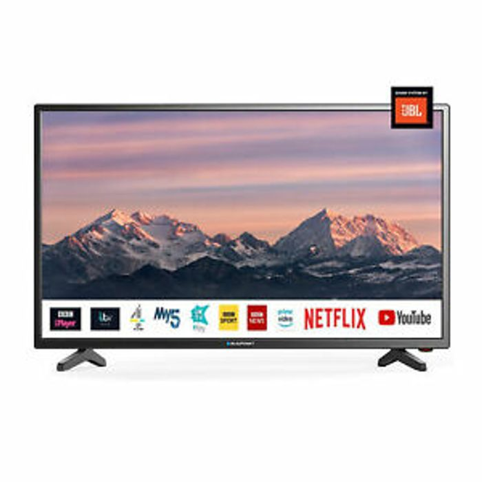 """Blaupunkt 40"""" Inch Full HD LED Smart TV with JBL Speakers and Freeview Play HD"""