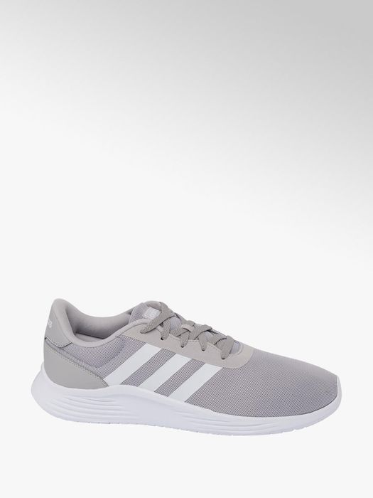 Mens Adidas Lite Racer Grey Lace-up Trainers