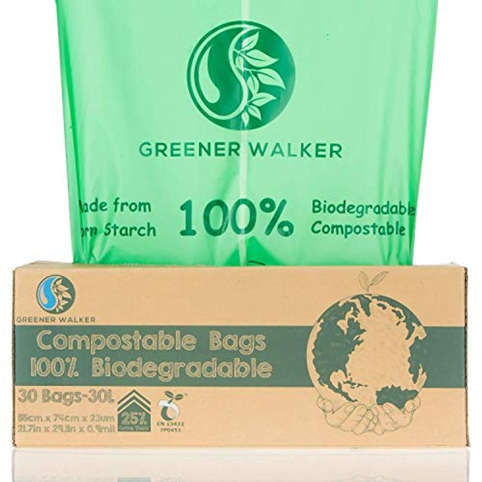 Greener Walker 25% Extra Thick Compost 30L Caddy Bin Liners-30 Bags