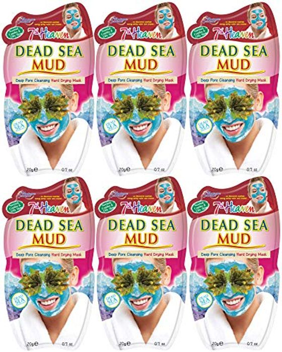 7th Heaven Dead Sea Hard Drying Mud Face Mask (X6 Pack) (Prime)