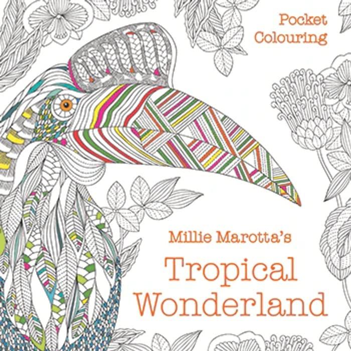 Millie Marottas Tropical Wonderland Pocket Colouring