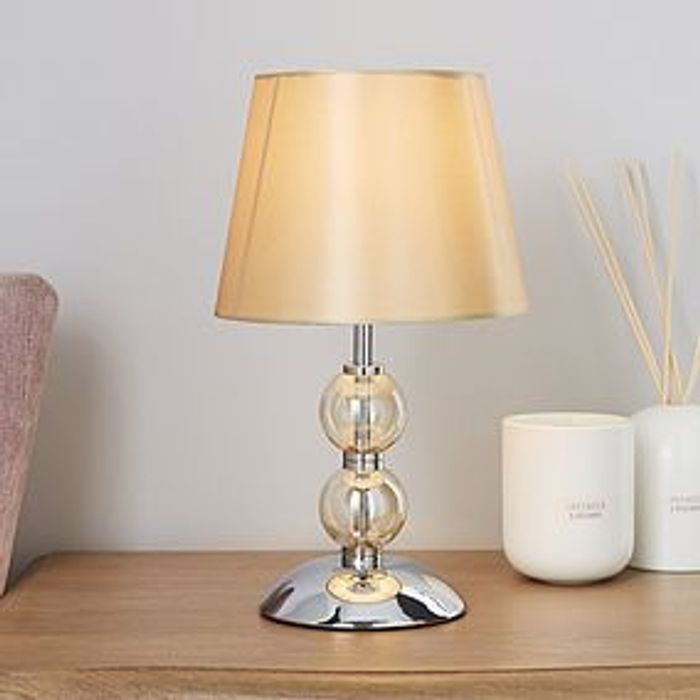 Glass Ball Champagne Table Lamp