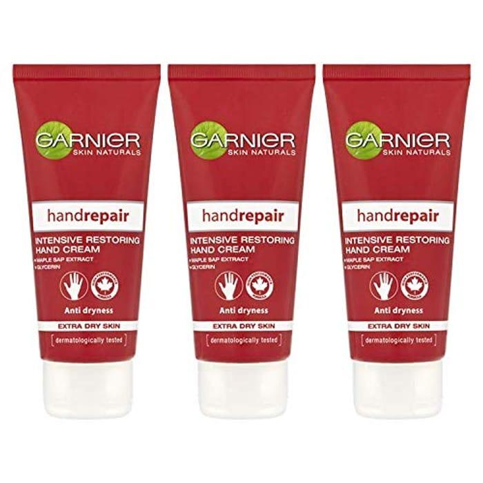 Best Price! Garnier Body Repair Hand Cream Dry Skin 100ml (3 Pack)