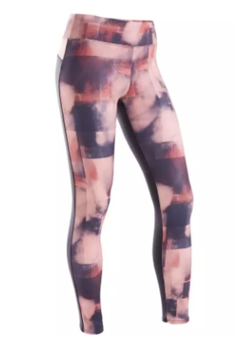Best Price! Domyos S500 Girls' Warm Breathable Synthetic Gym Leggings