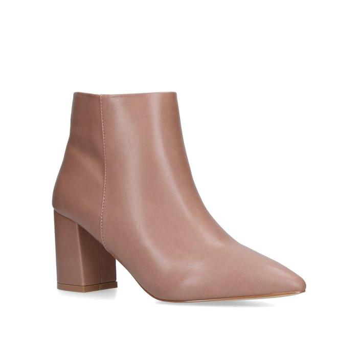 Carvela - Nude 'Sleek' Block Heeled Ankle Boots