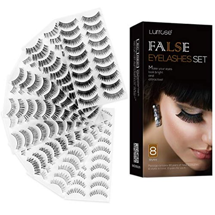False Eyelashes Less than 20p a Pair (80 Pairs)