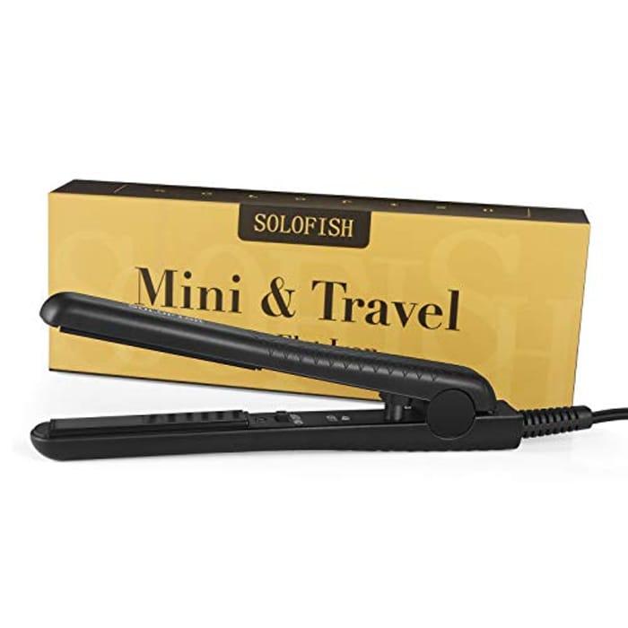 DEAL STACK - SOLOFISH Mini Flat Hair Straighteners - £6.54