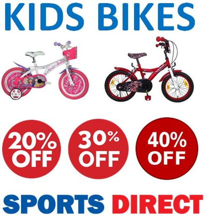 20% - 40% off KIDS BIKES at Sports Direct