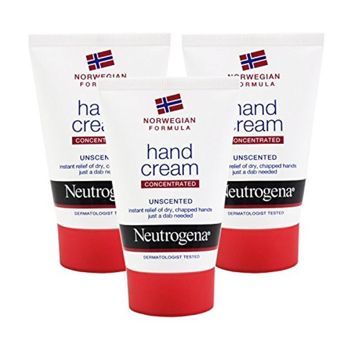 Save 6% on 3x Neutrogena Norwegian Formula Concentrated Hand Cream 50ml