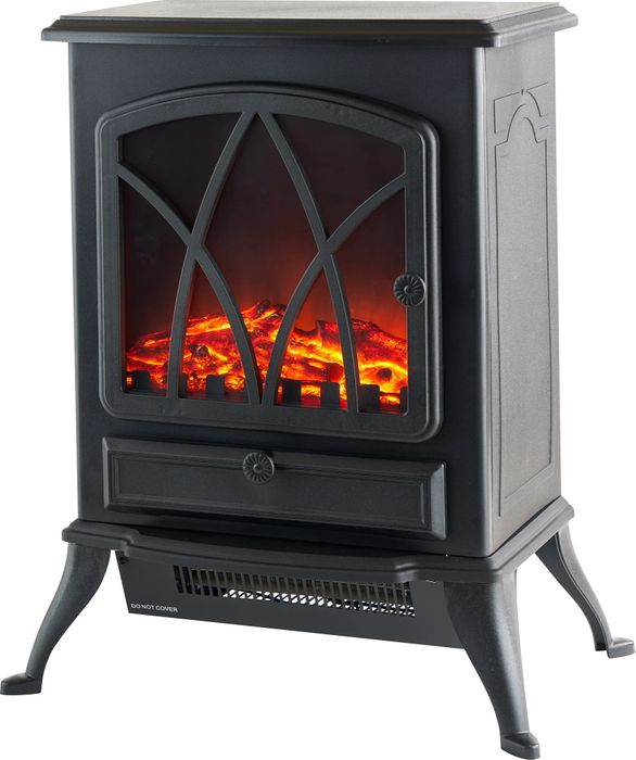 Log Effect Fire Stove 2kw Black