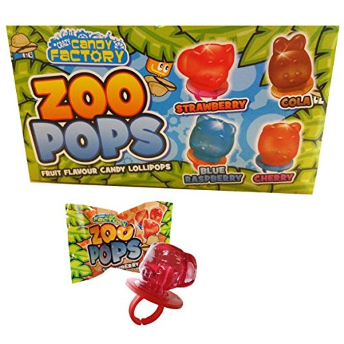 Zoo Pops 24 X Fruity Animal Mini Lolly Sweets Lollies with Rings