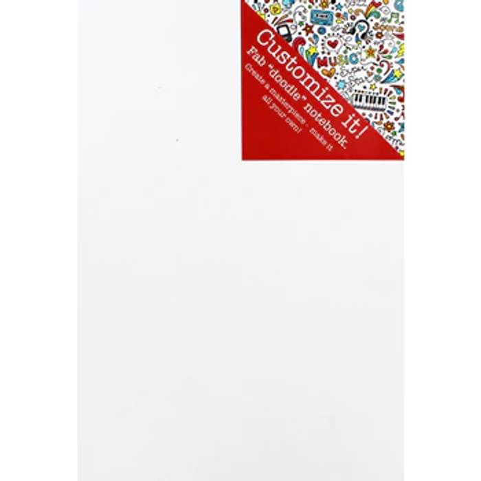 A4 Casebound Doodle Plain Notebook