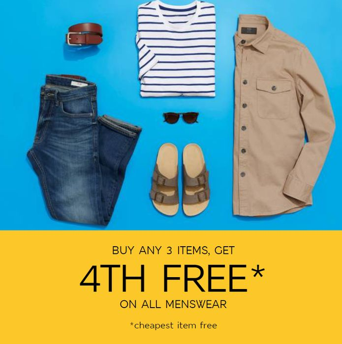 CHEAP! Buy Any 3 Items & Get the 4th Free on Menswear (Plus More Offers)