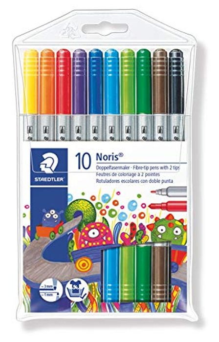 Staedtler Noris Club Double Ended Fibre Tips (Pack of 10)
