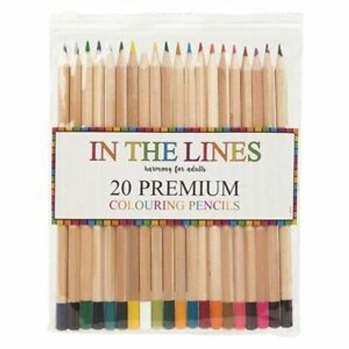 20x Colouring Pencils Premium Blending Colours