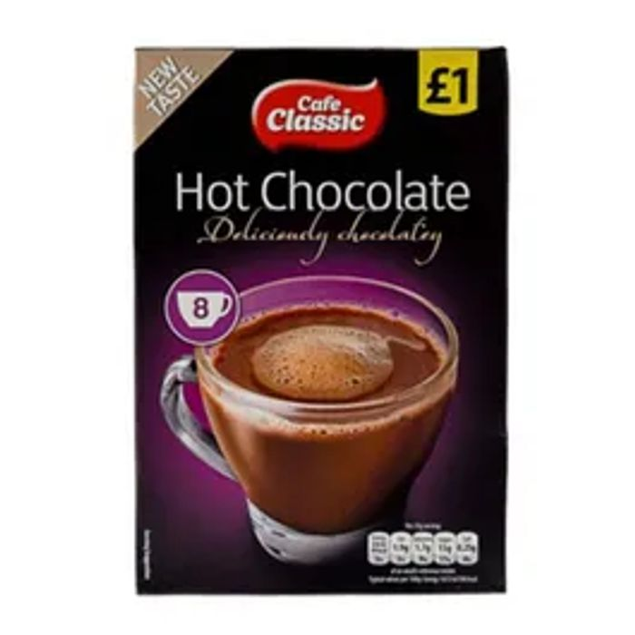 Cheap Cafe Classic Hot Choc 8 Sachets Only £1