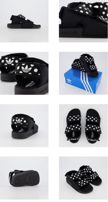 Adidas Adilette Sandals 3.0 Core Black White Dot