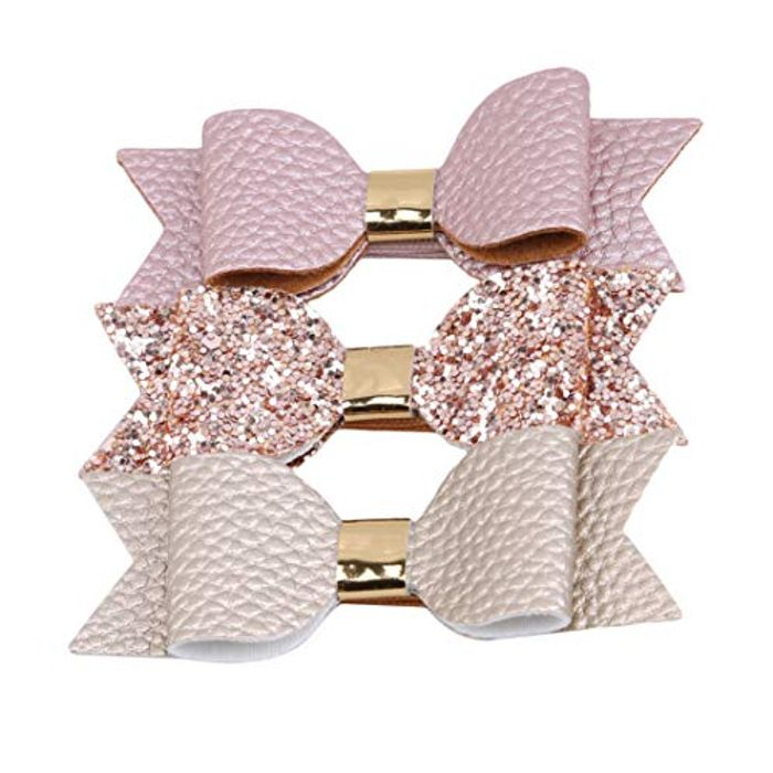 3pcs Bow Hairpin Bowknot Hair Clips Girls