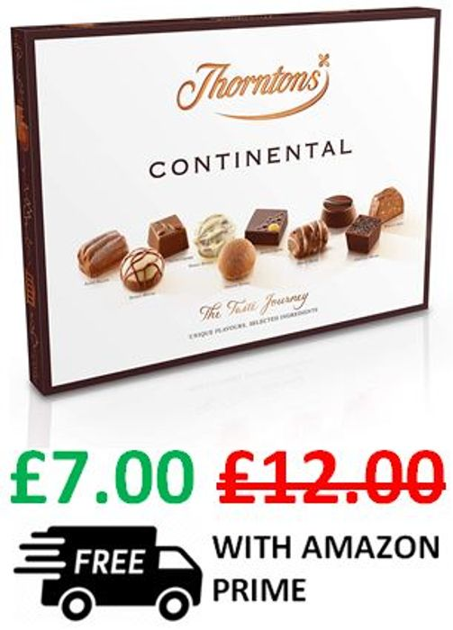 Thorntons Continental Chocolates - £5 OFF + FREE DELIVERY WITH PRIME!