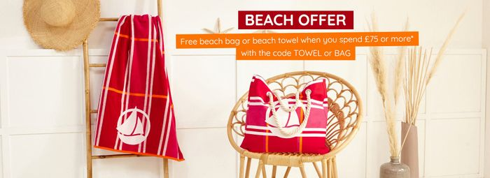 Free Beach Towel or Beach Bag with Orders over £75 at Petit Bateau