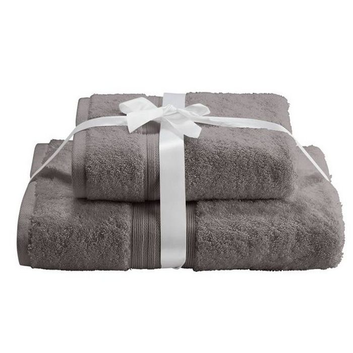 Argos Home Pair of Bath Towels - Flint Grey
