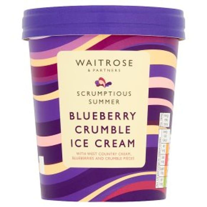 Waitrose Blueberry Crumble Ice Cream500ml