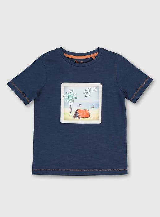 Blue Interactive Postcard T-Shirt (9 Months-6 Years)
