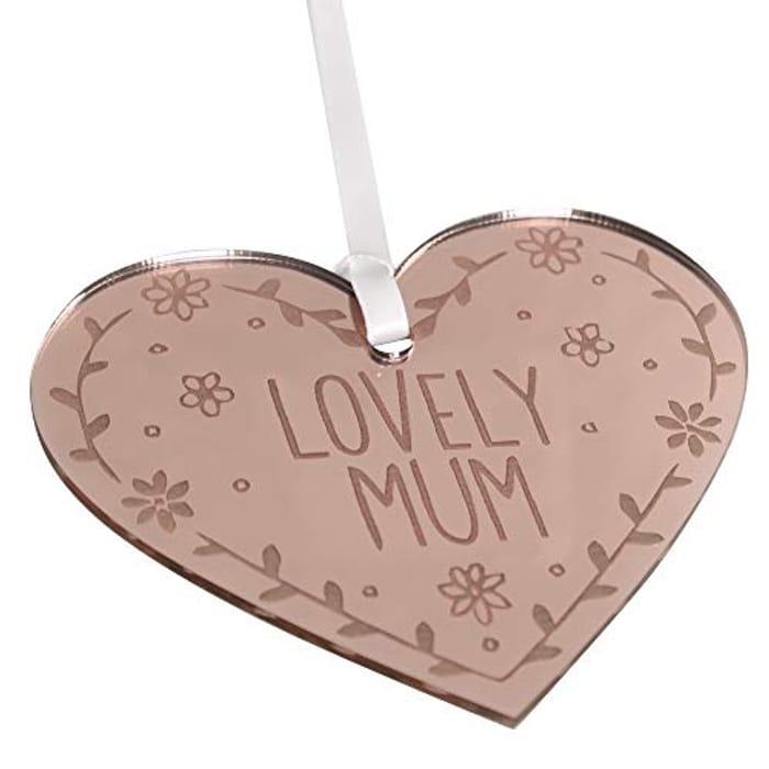 Rose Gold Lovely Mum Mirror Sign