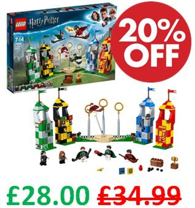 Best Price! LEGO Harry Potter Quidditch Match 75956 + Free Delivery