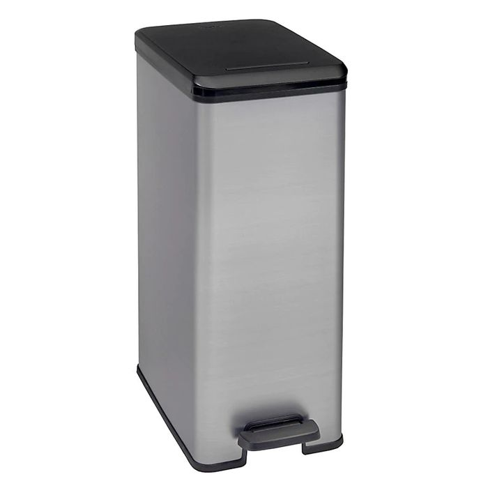 *HALF PRICE* Curver Deco S/steel Kitchen Bin, 40Ltr - Click & Collect Only
