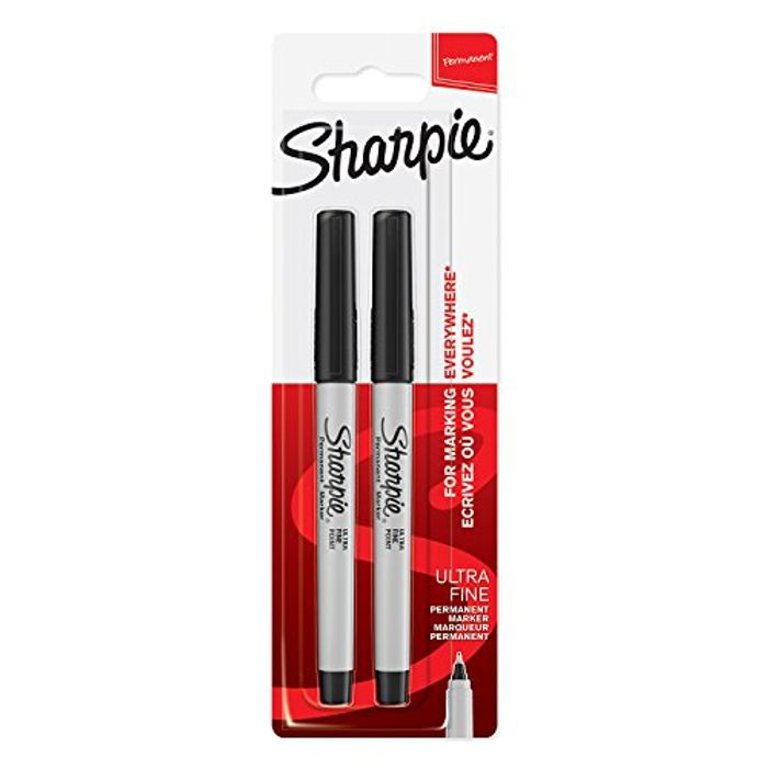 Sharpie Permanent Markers | Ultra-Fine Point | Black | 2 Count