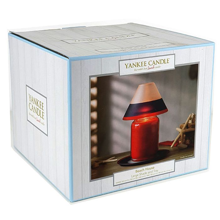 Official Yankee Candle Beach House Large Shade & Tray Set(no Candle)