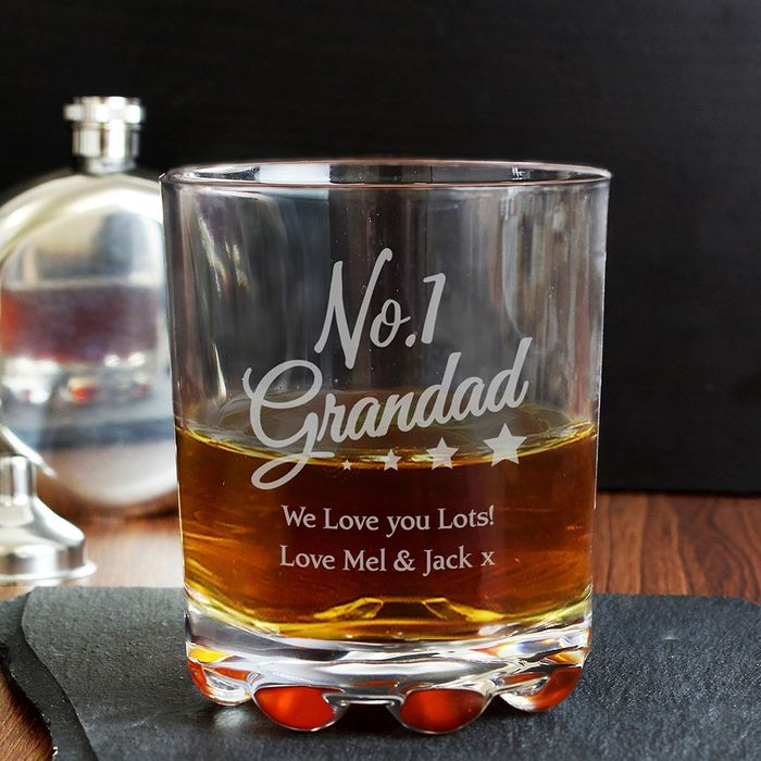 Personalised No.1 Grandad Tumbler ( Great Fathers Day Gift)