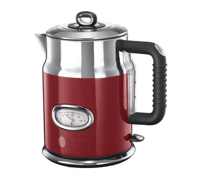 *SAVE £30* RUSSELL HOBBS Retro Jug Kettle - Red/Black/Silver