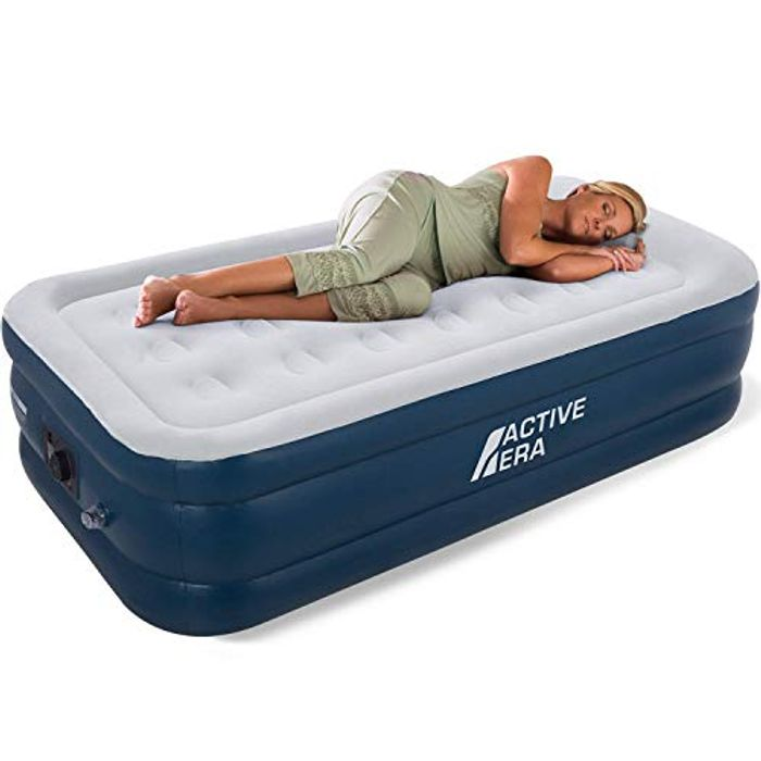 Active Era Premium Single Size AirBed with a Built-in Electric Pump and Pillow